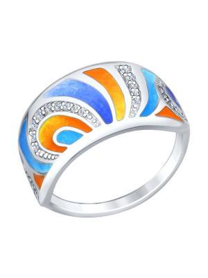 Кольцо SOKOLOV. Цвет: серебристый