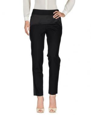 Повседневные брюки MbyMAIOCCI. Цвет: черный