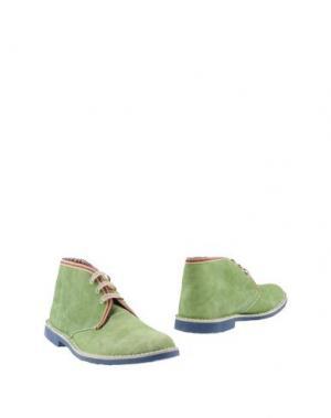 Полусапоги и высокие ботинки BRAWN'S. Цвет: светло-зеленый