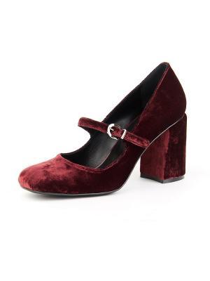 Туфли Lottini. Цвет: бордовый