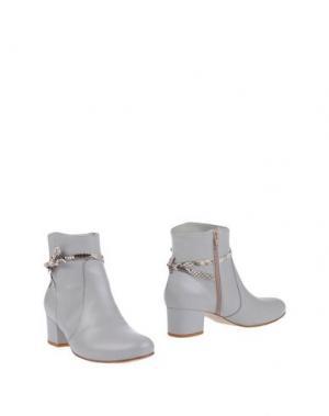 Полусапоги и высокие ботинки EMANUELA PASSERI. Цвет: светло-серый