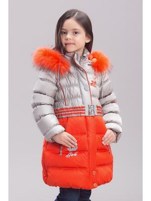 Пальто Steen Age. Цвет: серебристый
