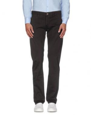 Повседневные брюки RE-HASH. Цвет: темно-коричневый