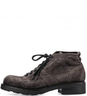 Замшевые ботинки серого цвета O.X.S.. Цвет: серый