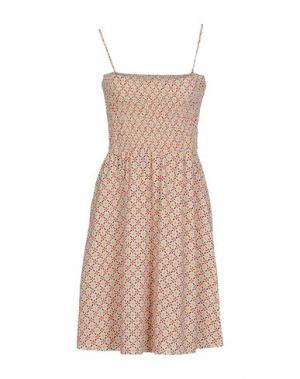Короткое платье SIYU. Цвет: бежевый
