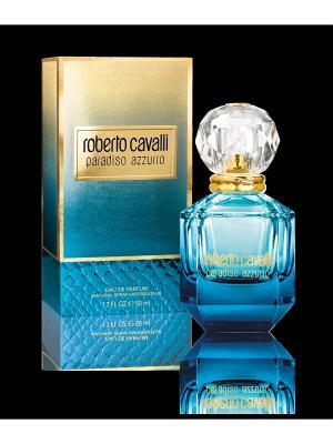 Парфюмерная вода Roberto Cavalli Paradiso Azzurro, 50 мл. Цвет: прозрачный