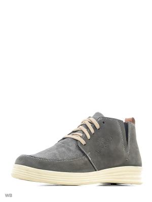 Ботинки WOODLAND. Цвет: темно-серый