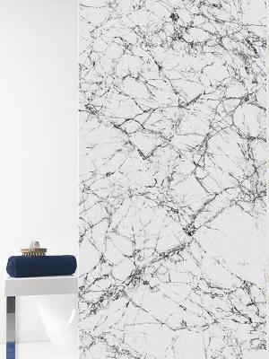 Штора д/ванн 180х200 Marmo сер. (шт.) Bacchetta. Цвет: серый, белый