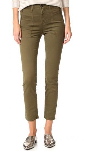 Практичные современные джинсы-скинни  Kinsley AG. Цвет: серо-желтый, пальмовый зеленый