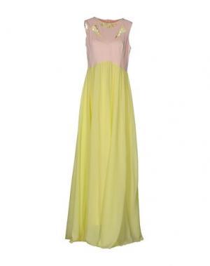 Длинное платье PINKO. Цвет: желтый