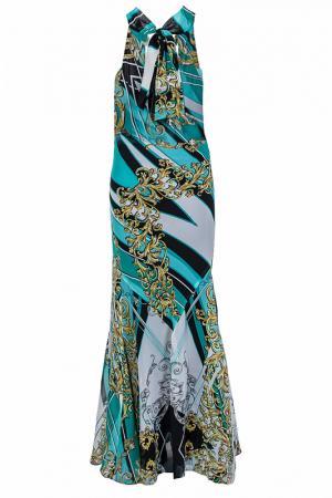 Платье Elisa Fanti. Цвет: бирюзовый