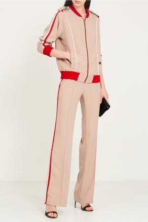 Бежевые брюки с лампасами LAROOM. Цвет: бежевый