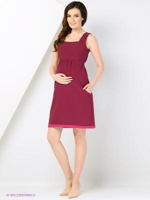 Сарафан EUROMAMA. Цвет: темно-бордовый, розовый