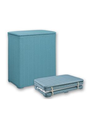 Корзина для белья 49х27х55см плетеная, голубая NIKLEN. Цвет: голубой