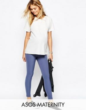 ASOS Maternity Эластичные зауженные брюки для беременных. Цвет: черный