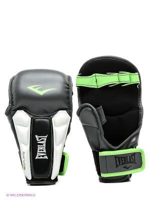Перчатки тренировочные Prime MMA SM сер/зел. Everlast. Цвет: серый, салатовый, белый, черный