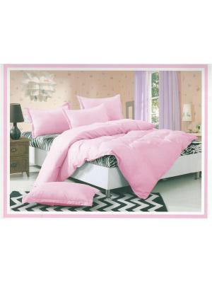 Комплект постельного белья, 1.5 спальный. La Pastel. Цвет: розовый,белый,черный