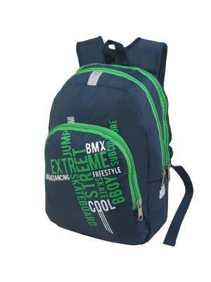 Портфель ученический Stelz. Цвет: синий, белый, зеленый