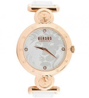Часы с кожаным ремешком выделкой под рептилию VERSUS