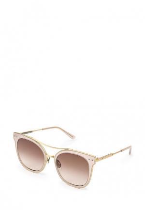 Очки солнцезащитные Bottega Veneta. Цвет: бежевый
