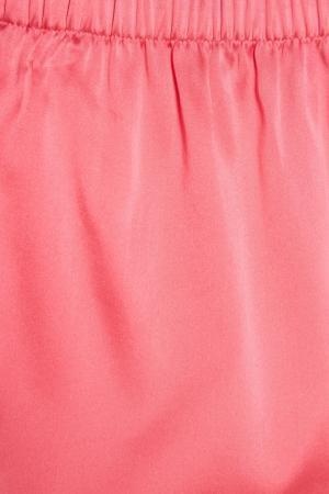 Комплект из шелка с кружевом NuCode. Цвет: розовый
