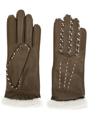 Перчатки Marie Louise Agnelle. Цвет: коричневый