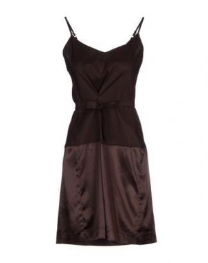 Короткое платье WETPAINT. Цвет: темно-коричневый