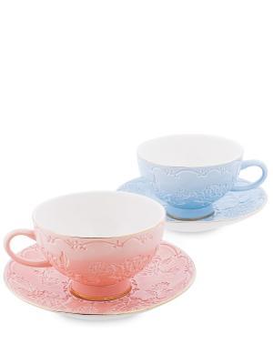 Чайный н-р на 2 перс. Белла Мария (Pavone) Pavone. Цвет: синий, розовый