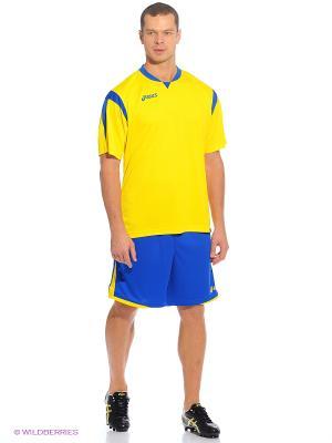 Комплект (футболка+шорты) SET MARACANA MC ASICS. Цвет: желтый, синий