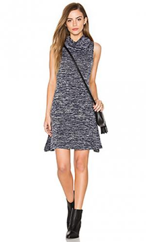 Платье с овальным вырезом без рукавов Bishop + Young. Цвет: синий
