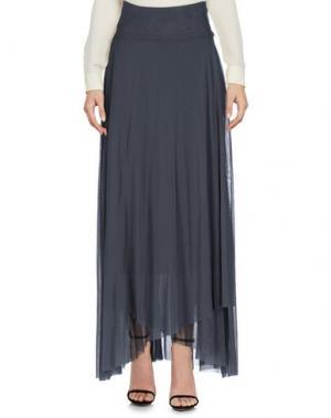 Длинная юбка FUZZI. Цвет: свинцово-серый