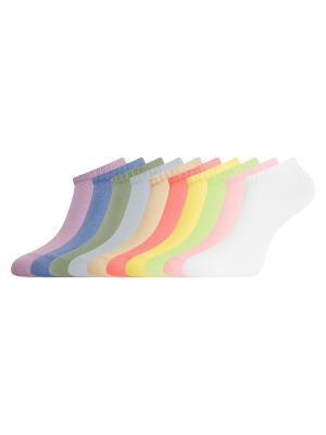 Носки (комплект 10 пар) Oodji. Цвет: фиолетовый, коралловый, розовый