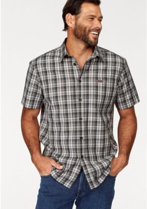 Рубашка MANS WORLD MAN'S. Цвет: оливково-зеленый/коричневый/бежевый в клетку