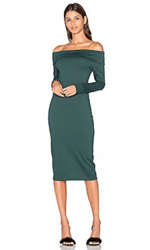 Платье astaire Amanda Uprichard. Цвет: темно-зеленый