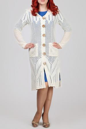 Пальто Текстильная Мануфактура. Цвет: бежевый