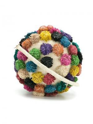 Соломенный клатч Serpui. Цвет: многоцветный