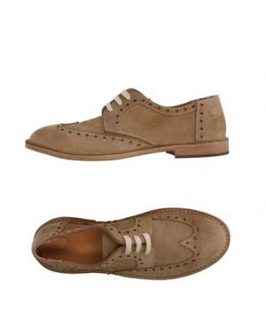 Обувь на шнурках YAB. Цвет: бежевый
