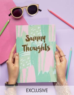 OHH DEER Блокнот Sunny Thoughts A4. Цвет: мульти
