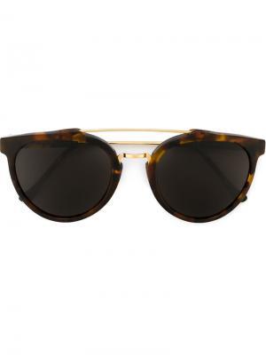 Солнцезащитные очки Giaguaro Large Havana Classic Retrosuperfuture. Цвет: коричневый