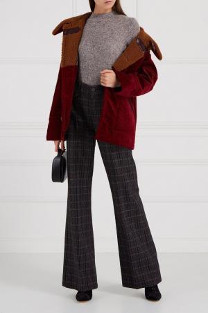 Меланжевый джемпер из шерсти Marc Jacobs. Цвет: серый
