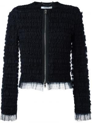 Жакет с оборками Givenchy. Цвет: чёрный