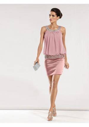 Коктейльное платье Ashley Brooke. Цвет: коралловый, розовый, темно-синий, черный