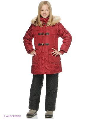 Пальто SAIMA. Цвет: темно-красный