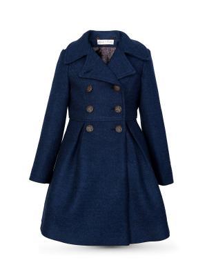 Пальто Миранда Alisia Fiori. Цвет: темно-синий, синий, бронзовый