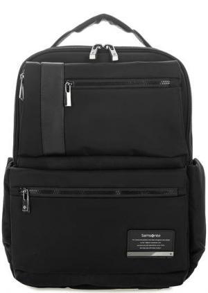Черный текстильный рюкзак с двумя отделами Samsonite. Цвет: черный