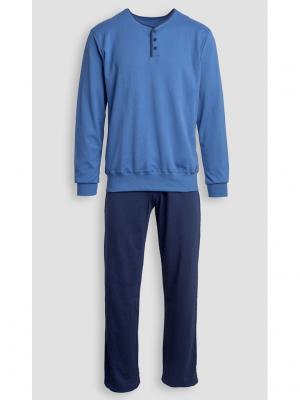 Пижама Jasmil. Цвет: синий
