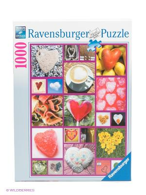 Пазл Сердце, 1000 шт Ravensburger. Цвет: красный, желтый, зеленый