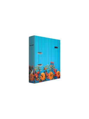 Регистратор ламинированый 8см Pierre Cardin Provence. Цвет: голубой