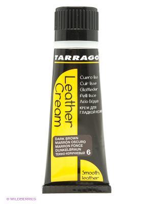 Крем тюбик с губкой Leather cream, 75мл. (dark brown) Tarrago. Цвет: темно-коричневый