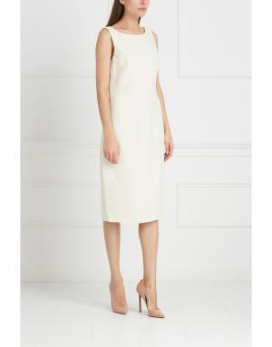 Платье из вискозы и шелка Gilmar. Цвет: белый